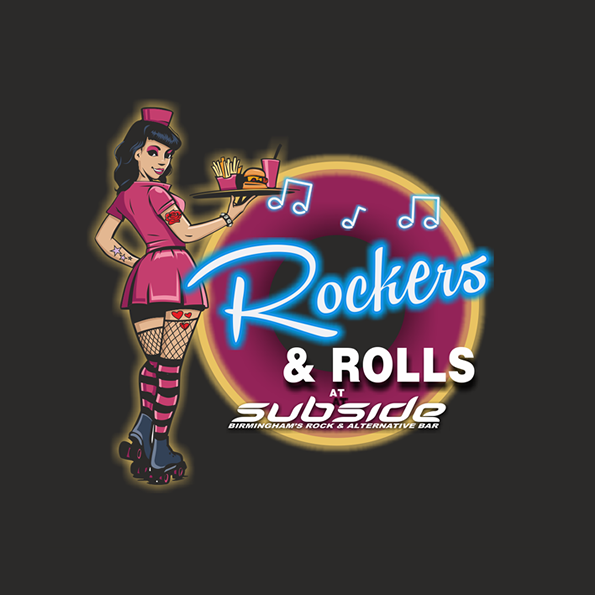 Rockers & Rolls Bar Logo