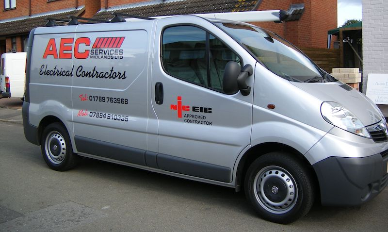 Space Graphic Solutions Full Vehicle Wraps Stratford upon Avon AEC Electrical Contractors