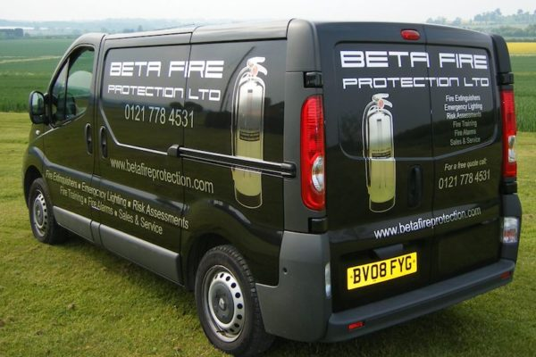 Space Graphic Solutions Full Vehicle Wraps Stratford upon Avon Beta Fire Protection Ltd