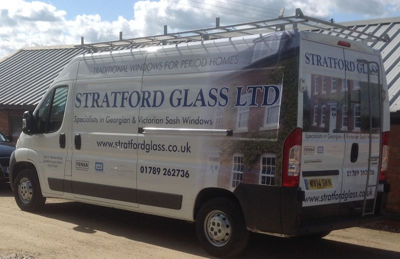 Space Graphic Solutions Services Full Vehicle Wraps Stratford upon Avon Stratford Glass Ltd.