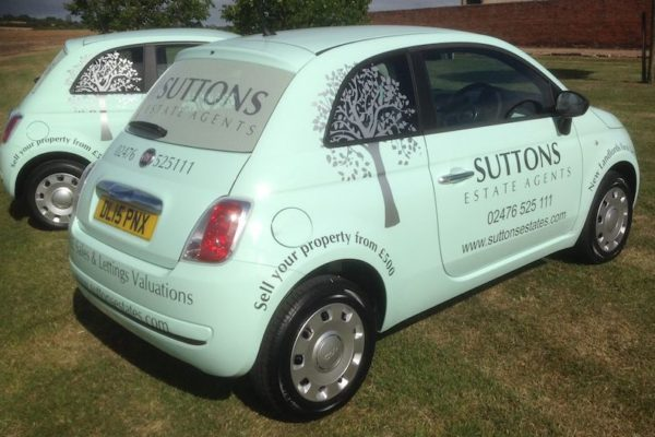Space Graphic Solutions Full Vehicle Wraps Stratford upon Avon Suttons Estate Agents
